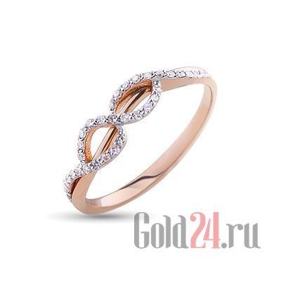 кольцо из серебра со знаком бесконечности купить